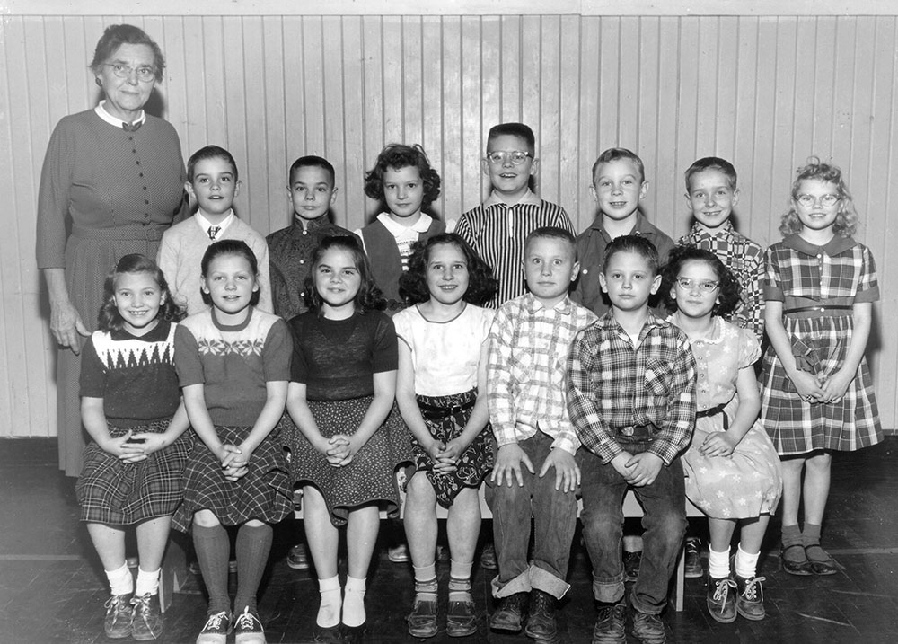 Grace Zeverly's class, 1956-57 at the Wasco Grade School ...