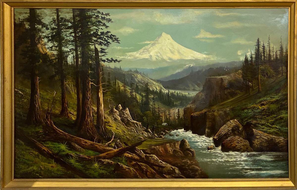 Mouantin scene oil painting by Joseph John Englehart