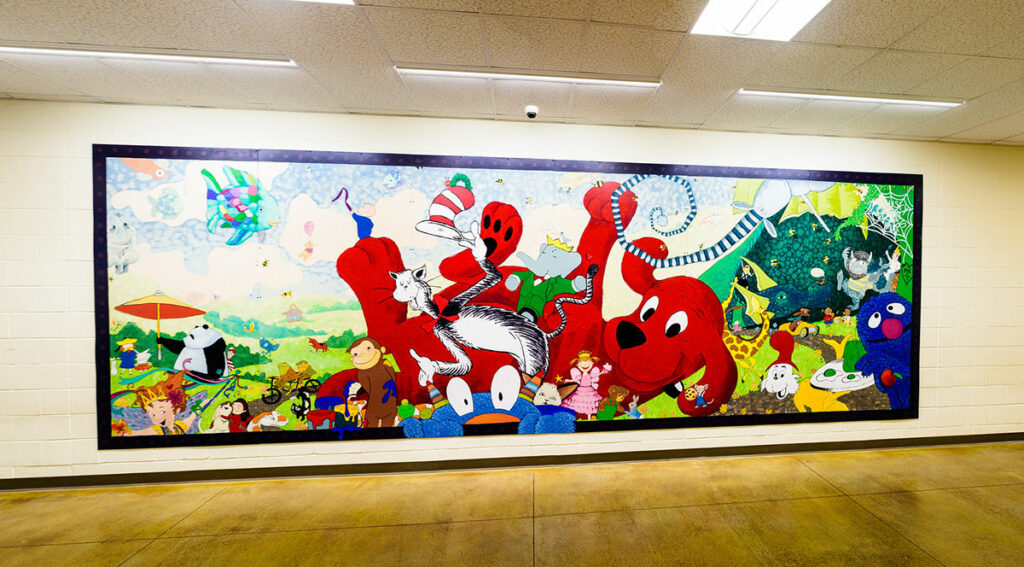 This South Sherman Elementary School mural is now at Sherman County School. Photo by Jeremy Lanthorn.