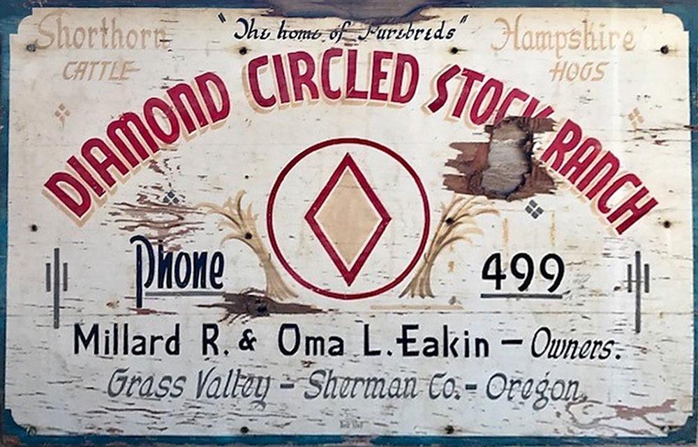 Eakin Stock Ranch Sign. Photos by Justesen and Hulbert.