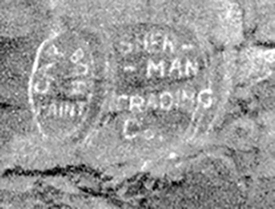 Sherman Trading Co. pained ad at Lone Rock.