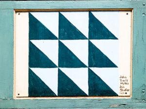 Melzer Quilt Shop - Quilt Block 7. Photo by Jeremy Lanthorn.