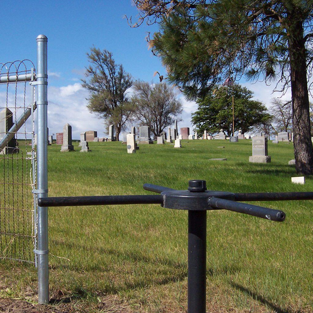 Sun Rise Cemetery turnstile
