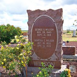 Kent Cemetery, George S. Wilson and Martha E Wilson