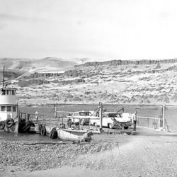 Ferry crossing in the Grant, Oregon area in 1962.