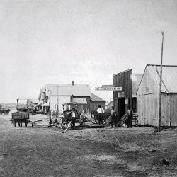 Grass Valley, Oregon in the 1880s.