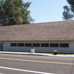 The pavilion building in Grass Valley, Oregon.
