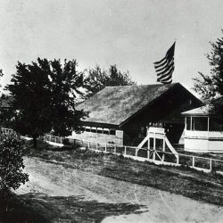 The pavilion building in Grass Valley, Oregon. Date unknown.