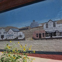 Mural on building in downtown Moro, Oregon.