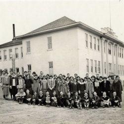 Moro School, Moro, Oregon. Date unknown.