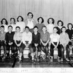 Grace Zevely's class, 1952-53 at the Moro School in Moro, Oregon.