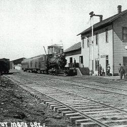 The Moro, Oregon train depot.