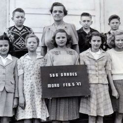 Mrs. Zevely's class, February 5, 1947 at the Moro Grade School.