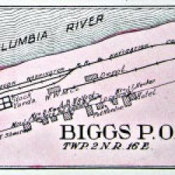 Plat Map for Biggs, Oregon.