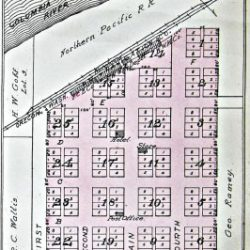 Plat Map of Rufus, Oregon.