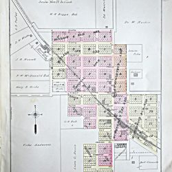 Plat Map of Wasco, Oregon.