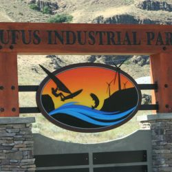 New sign for the Rufus Industrial Park - 2011