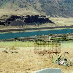 View from the Rufus Cemetery, Rufus, Oregon.