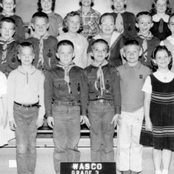 Grace Zeverly's class, 1961-62 at the Wasco Grade School, Wasco, Oregon