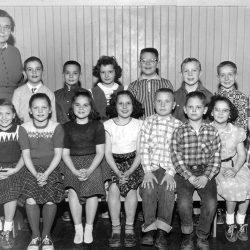 Grace Zeverly's class, 1956-57 at the Wasco Grade School, Wasco, Oregon