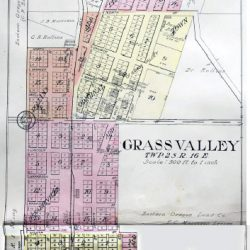 Plat Map of Grass Valley, Oregon.