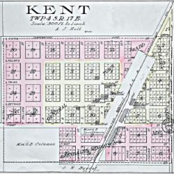 Plat Map of Kent, Oregon