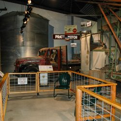 Cultivation, Conservation and  Clothespins - The newest exhibit, takes the visitor from  horsepower to engine power and electricity with large wheat  farming implements, an authentic 1930s electric kitchen, and soil and  water conservation.