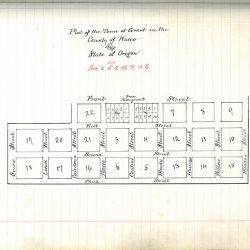 Plat Map of Grant, Oregon