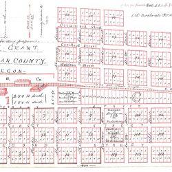 Plat Map for Grant, Oregon.