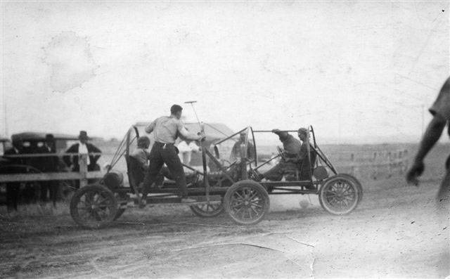 Auto Polo at the Sherman County Fair during the 1920's.